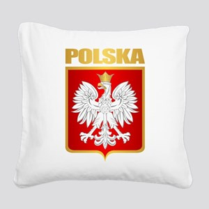 Poland COA Square Canvas Pillow